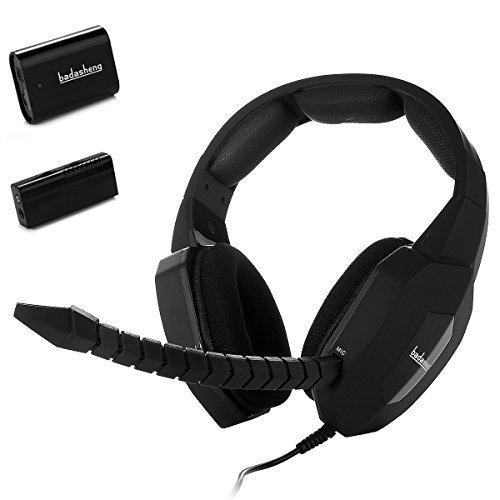 Badasheng Premium Wired USB Headset For PC/Xbox 360/Xbox One/PS4/PS3/Mac/,3.5mm jack for Smartphone , Tablet , With Detachable and Adjustable Mic (Black)