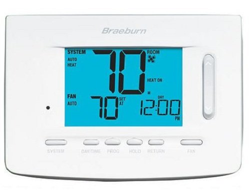 BRAEBURN 7500 Universal Wireless Thermostat Kit 7, 5-2 Day or Non-Programmable, 3H/2C (Includes Thermostat, Control Module and Supply Air sensor) by Braeburn