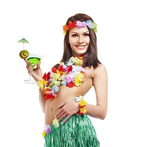 Hula Girl Costumes Plus Size - Hula Skirt Adult Elastic Hawaiian Dancer