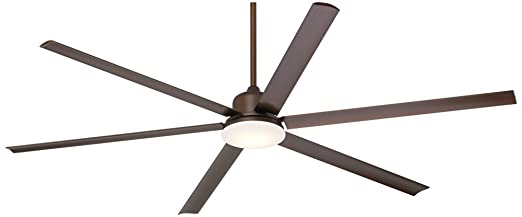 84u0026quot; Casa Arcade Bronze Damp LED Ceiling Fan