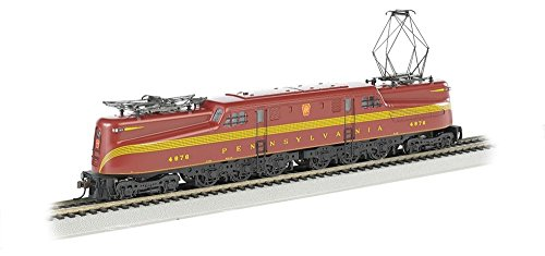 Bachmann Industries GG1 Electric DCC Ready PRR Tuscan Red 5 Stripe #4876 HO Scale Train Car