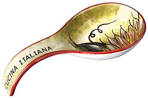Cucina Italiana Ceramic Kitchen Stove, Counter Top Deep Spoon -