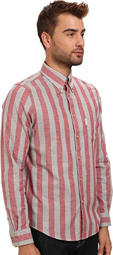 Ben Sherman Men's L/S Marl Candy Stripe Fiesta Button-up Shirt XL
