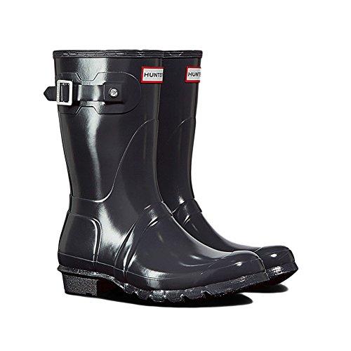 Hunter Women's Original Short Gloss Rain Boots, Dark Slate, 6 B(M) US by Hunter
