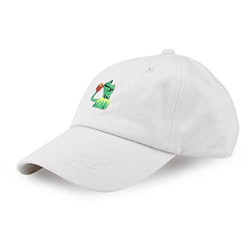 Eiffel Fashion Baseball Cap Kermit None My Business Adjustable Cap Frog Sipping Tea (Beige) (Casual Hat Business)