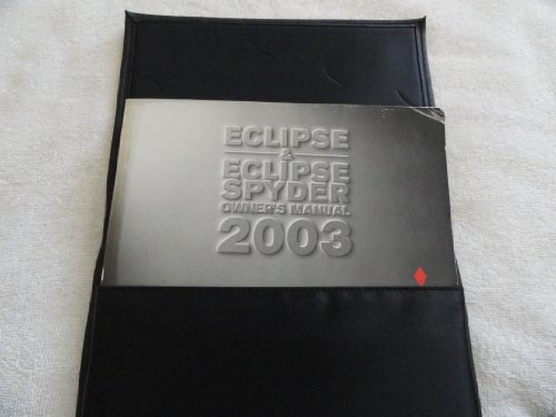 2003 Mitsubishi Eclipse, Spyder Owners Manual