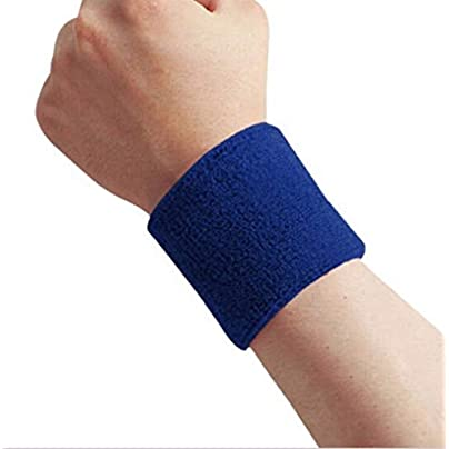 Wrist supports for joint pain 1pc Sport Wristband Brace Wrap Bandage Gym Running Sports Safety Wrist Support Badminton Terry Cloth Cotton Sweat Band wrist straps Estimated Price £19.56 -