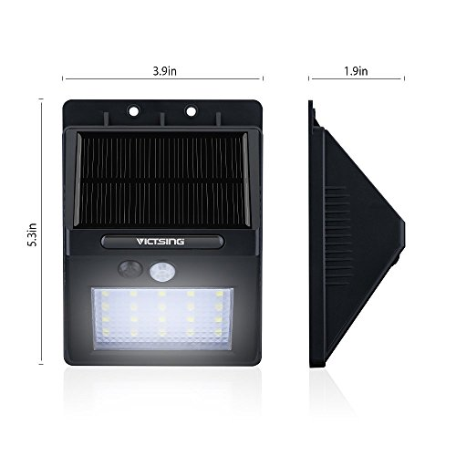 Victsing 4pcs 20 Led Solar Motion Sensor Lights Super