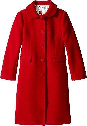 Dolce & Gabbana Kids Girl's Back to School Wool/Cashmere Coat (Big Kids) Bordeaux 8 by Dolce & Gabbana