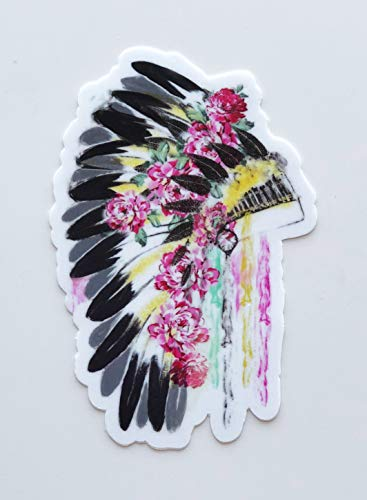 StyleMoca Flower Indian Sticker Premium Quality Matte Waterproof Vinyl Stickers for Water Bottles, Tumblers, Cars, Snowboards, Laptops, and More