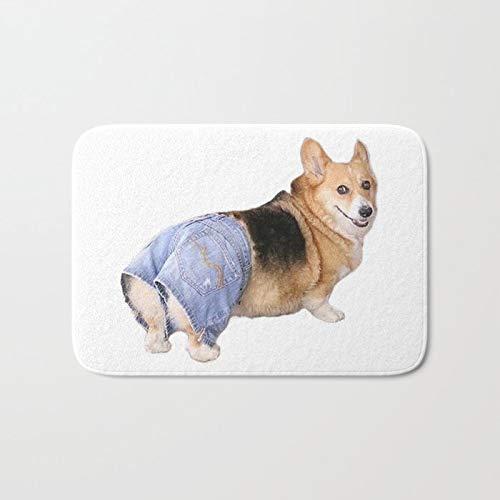 Corgi Apple Bottom Jeans Novelty Weclome Carpet Non-Slip Floor Rug Mat for Outdoor/Bath/Toilet/Living Room/Dining Room/Playroom, Decorative Doormat Size 24 x16 Inch ()