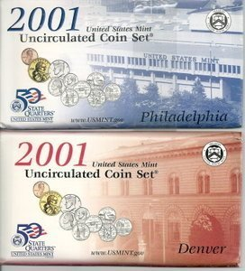2001 Mint Set (Mint Uncirculated Coin)