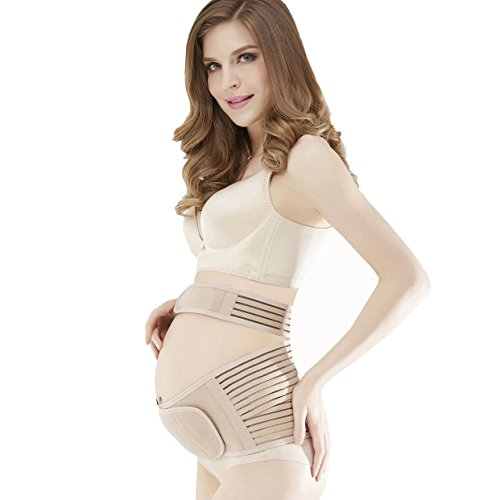 Babo Care Maternity Belt,Breathable Abdominal Binder,Back Support,Size XL,Nude