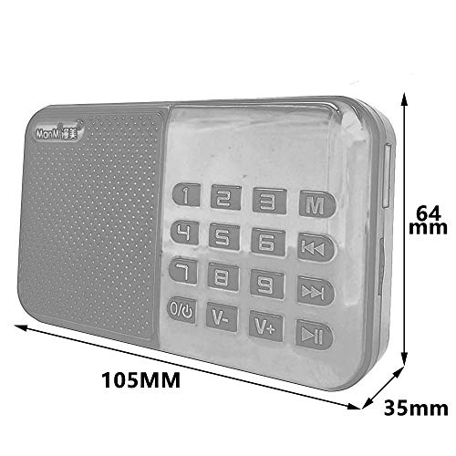 Household appliances Support TF U Disk Older MP3 Player, Portable Mini Full-Band Radio, Large Button Radio AOYS by Household appliances (Image #1)