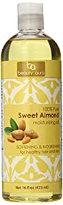 Beauty Aura 100 % Pure Sweet Almond Oil. (16 Fl Oz)