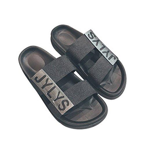 記述する熱帯のメールSpinas(スピナス)メンズ シャワーサンダル ダブルベルト 軽くてお手入れ楽ちん EVA ビーチサンダル 全2色(ブラック グレー)