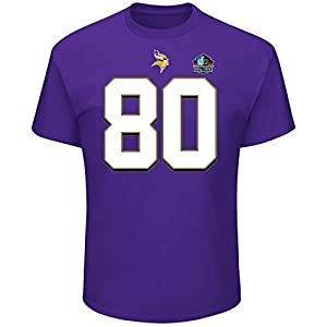 Cris Carter Minnesota Vikings Majestic NFL Men's HOF Eligible Receiver 4 T-Shirt