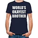 TeeStars - Brothers Gift Idea - World's Okayest Brother Funny Siblings T-Shirt Medium
