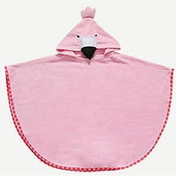 SUxian Encantador Toalla de algodón Infantil con Dibujos Animados Toalla de baño con Dibujos Animados Toalla de baño (Color : Flamingo, ...
