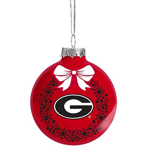 - FOCO NCAA Wreath Glass Ball Christmas Tree Ornament-2 5/8