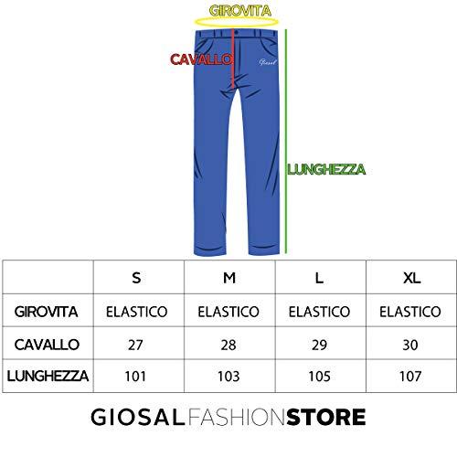 Denim Elastico Jeans Taglio Cotone Pantalone Sbiadito Uomo Ginocchia Panta Giosal tuta PqXx6wnv