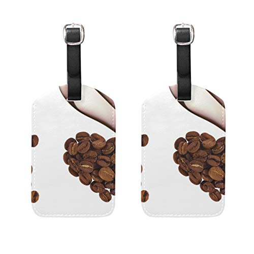 Luggage Tags Cute Coffee Bean Heart Mens Tag Holder Kids Bag Labels Traveling Accessories