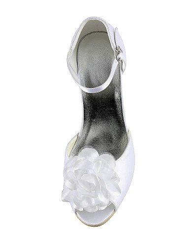 fiesta blanco 3 mujeres de YHUJI peep de la seda zapatos zapatos de zapatos toe amp; talón tacón aguja white GGX de nbsp;noche tacón vestido de boda 3 3 3in white 4in las de 3in 3 4in ttSw1qUap