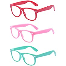 Outray Kids Children Nerd Retro Clear Lens Eye Glasses Age 3-10