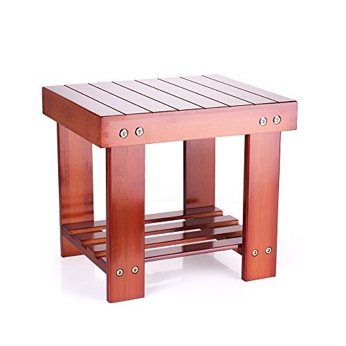 Convertible Step Stool - HOMEPOPULAR Step Stool Chair Anti-slip Mutli-purpose 100% Natural Genuine Bamboo Chair for Kids Toddlers Living Room Bathroom Kitchen Bedroom, Brown