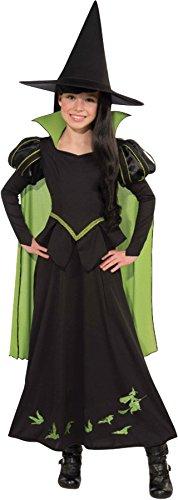 Rubie's Girl's Wizard of Oz Wicked Witch Fancy Dress Child Halloween Costume, Child M (8-10) -