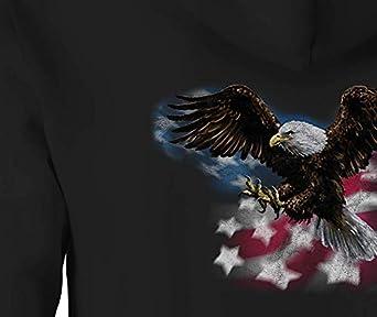 American Zip Up Hoodie Eagle Talons Hooded Sweatshirt for Men
