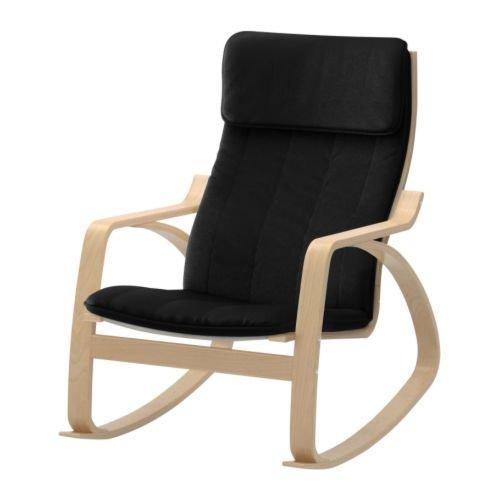 Amazon.com: Ikea Poang Rocking Chair Birch Veneer with Black ...