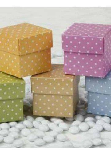 Ivy Lane Design 10-Pack Dotted Favor Boxes Pink