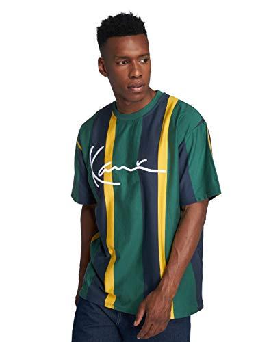 Stripes Kani Blu T Giallo College shirt Verde Karl UEndzE