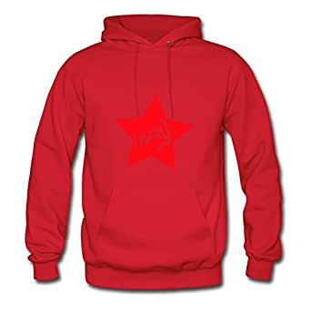 Women Hoody Casual Lulucky Star 3, Eushirt.com Print X-large With Cotton Red