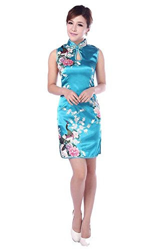 AvaCostume Gorgeous Peacock Sleeveless Knee length