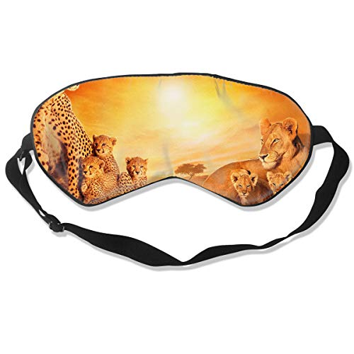 Sleep Mask 100% Silk Eye Mask African Lions Cool Nature Wildlife Eye Cover Sleeping Mask for Travelling, Night Noon Nap, Mediation Or ()