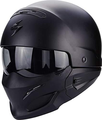 Scorpion - Cascos Moto Exo Combat Negro Mate: Amazon.es: Coche y moto