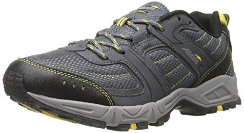AVIA Men's Dell Trail Running Shoe, Dusk Grey/Steel Grey/Blazing Yellow, 9.5 M US