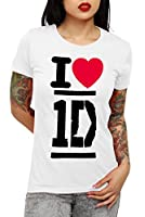 One Direction-I Heart 1D-Girls Youth T-Shirt (White)