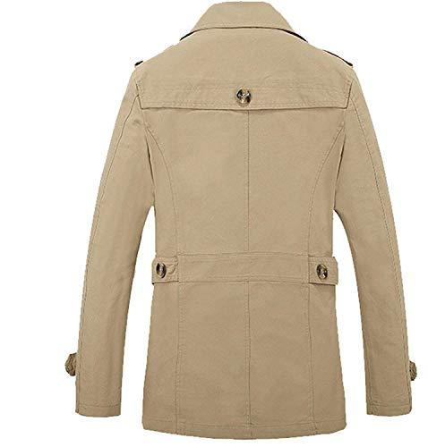 Fit Larga Libre De De Otoño Chaquetas De De Coat Al Slim Ocio De Abrigo Otoño De Aire Hombres Khaki Manga Chaquetas Los Abrigo Outwear Chaqueta q76U1wq