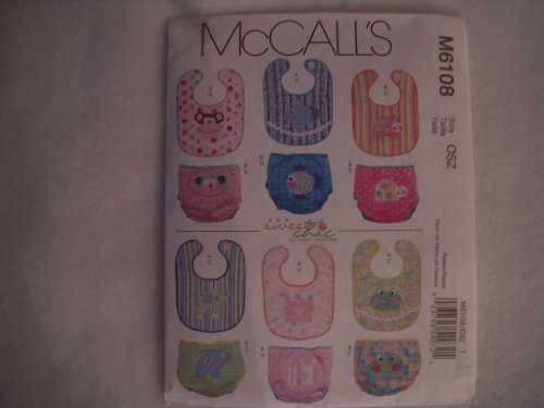 (McCall's Patterns M6108 Infants' Bibs and Diaper)