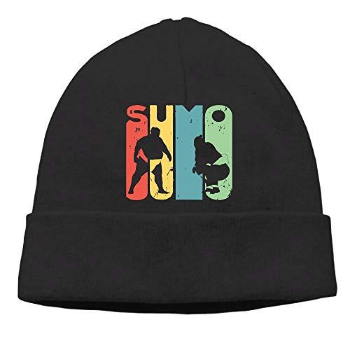 (GDSG5&4 Sumo Vintage Women and Men Sweat Wicking Winter Ski Beanie Hats)