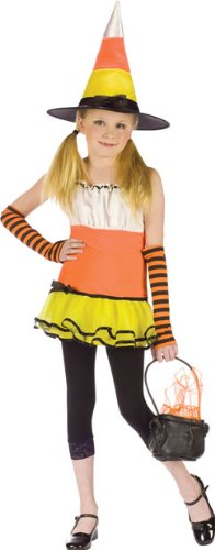 [Preteen Candy Corn Witch Halloween Costume (Large)] (Halloween Witch Costumes Kids)