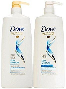 Dove Nutritive Solutions Daily Moisture, Shampoo and Conditioner Duo Set, 40 Ounce Pump Bottles (Dove Shampoo For Dry Hair)