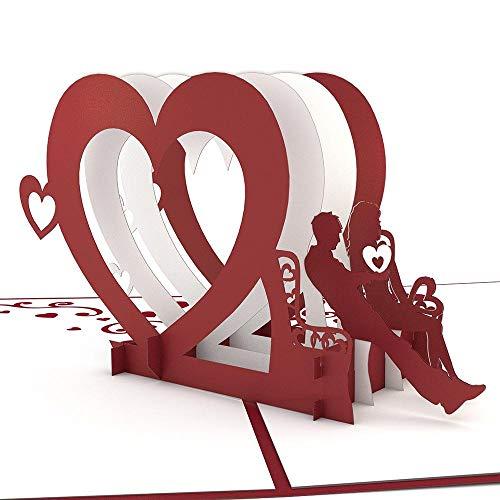 Bench Greeting Card - Lovepop Heart Bench