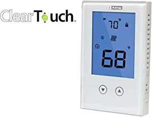KING K322E ClearTouch Electronic Non-Programmable Thermostat, DP, 120/208/240V, 15A