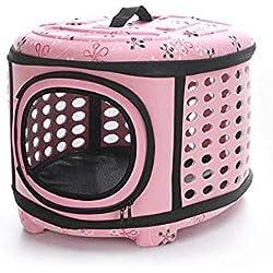 Soft Sided Pet Carrier Foldable EVA Pet Carrier Puppy Dog Cat Outdoor Travel Shoulder Bag for Small Dog Pets Soft Dog Kennel Pet Carrier Bag Pattern 6 L Pink