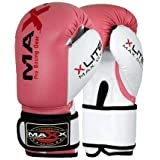 Maxx Kids junior boxing gloves Rex leather 4oz - 8oz - Pink