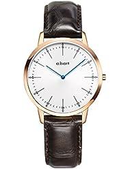 a.b.art Watches FL36-001-4DL Rose Gold Case Sapphire Crystal Women Wristwatch (Croco Alexander Calf-Dark Brown)